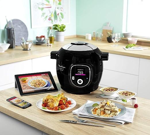 Moulinex Cookeo+ Connect olla multi-cocción 6 L 1600 W Negro - Ollas multi-cocción (6 L, 1600 W, 6 personas(s), China, Negro, LCD): Amazon.es: Hogar