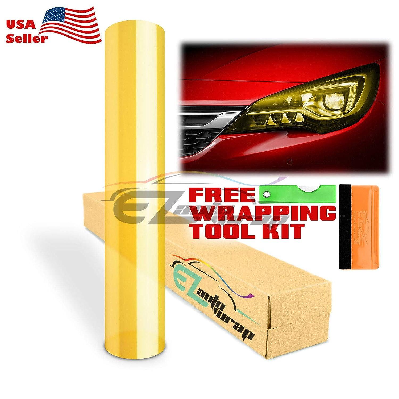 Glossy Emerald Green Headlight Taillight Fog Light Side Marker Vinyl Tint Film Self Adhesive EZAUTOWRAP Free Tool Kit 12x96 1FT x 8FT