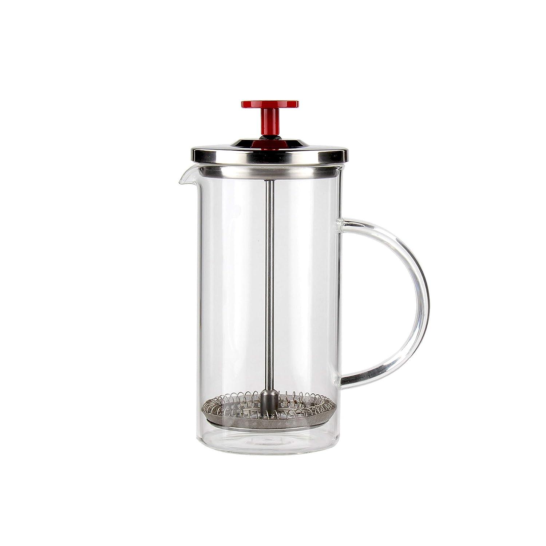 Pressa e infusore francese – Serve 355 ml di tè o caffè perfettamente preparato – 1-2 tazze – fatto a mano – teiera – caffettiera – vetro tedesco – acciaio inox – senza plastica usata Prezzi offerta