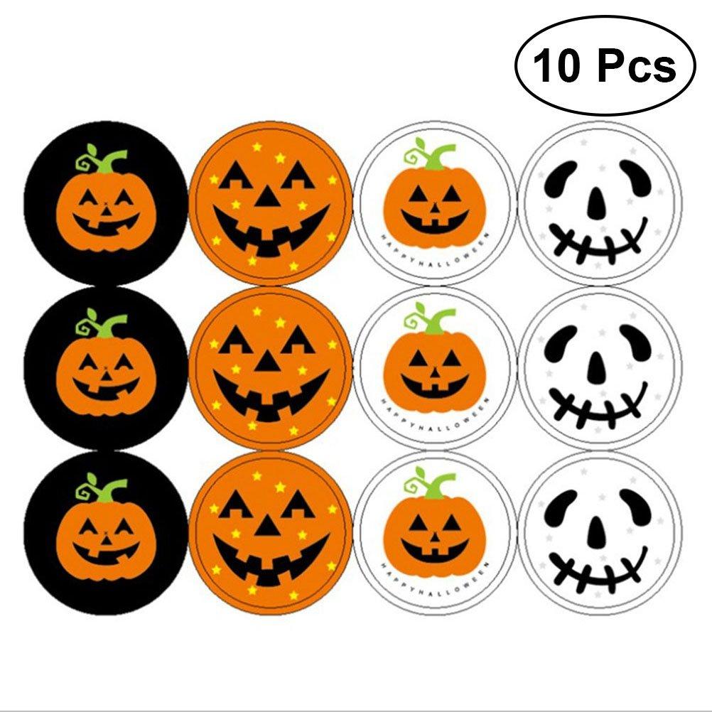 STOBOK Pegatinas de Calabaza de Halloween Adornos para Niños Proyectos de Manualidades Fabricación de Tarjetas Scrapbooking Decoración 120 Unids