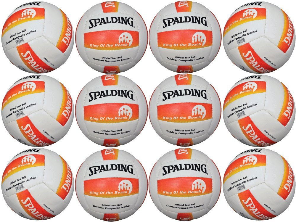 Spalding Volleyball King of the Beach Official Tour Ball Outdoor ( Lot of 12 ) by Splading