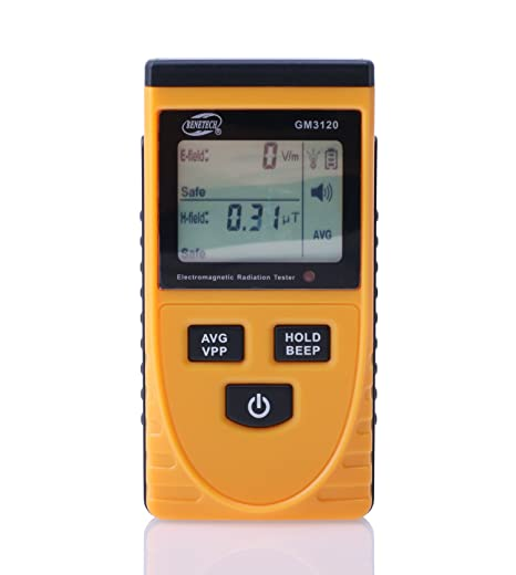 Amazon.com: C-Zone Digital LCD Electromagnetic Radiation Detector Meter Dosimeter Tester Counter-Yellow: Car Electronics