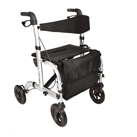 2 en 1 andador / silla de ruedas plegable de transporte: Amazon.es ...