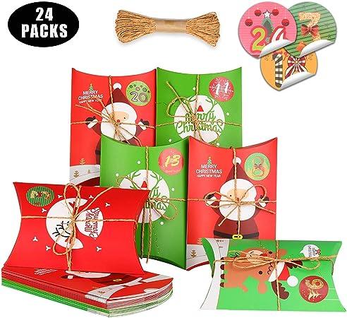 KATELUO 24 Piezas Cajas de Regalo,cajitas para Caramelos,cajitas Regalo comunion,Cajas para Galletas Adecuado para Navidad, Fiesta, decoración de Regalos.: Amazon.es: Hogar