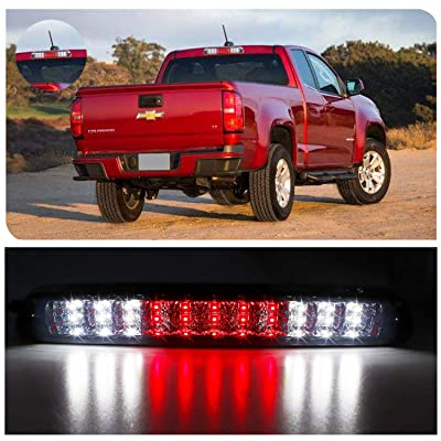 for 2004-2012 Chevrolet Colorado GMC Canyon LED 3rd Third Tail Brake Light Rear Cargo Lamp High Mount Stop light (Chrome Housing Smoke Lens): Automotive