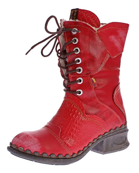 TMA Damen Winter Stiefel echt Leder Schuhe gefüttert Comfort Boots 5766 Stiefeletten Gr. 36 42