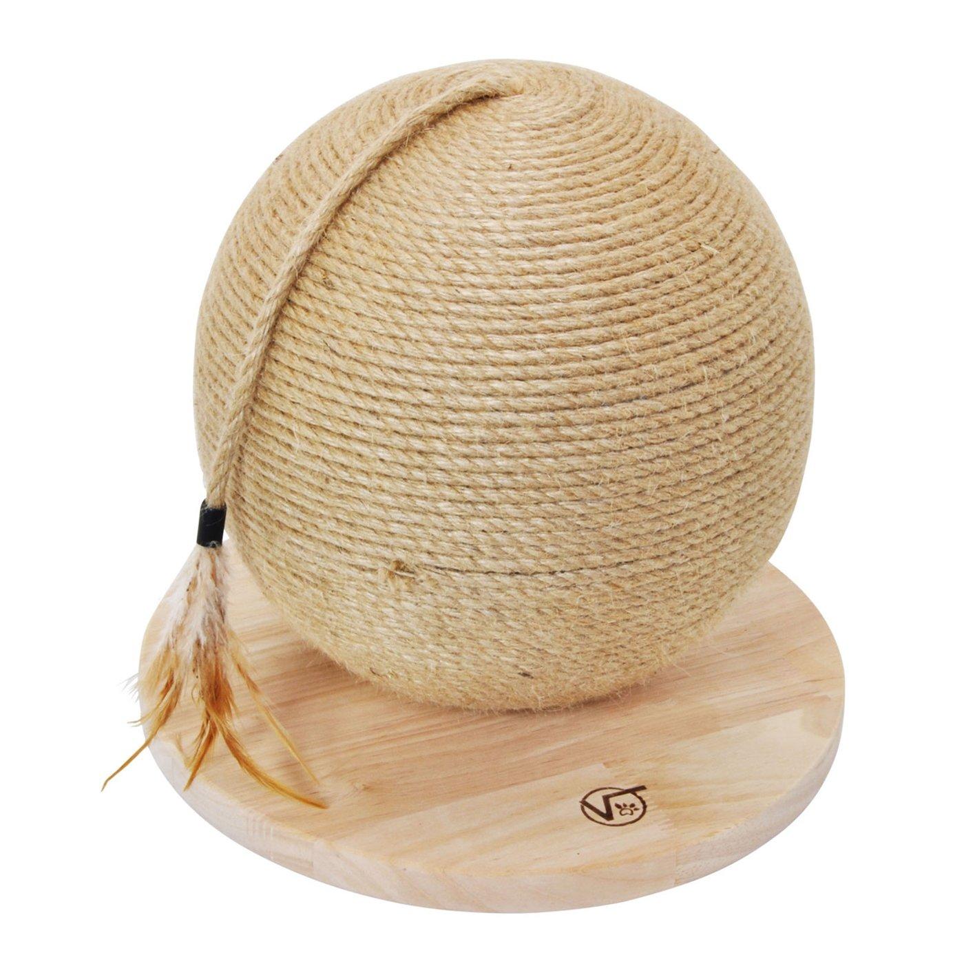 Grande boule à griffer « Vesta » de VOSS.miniPET, Ø30 cm, griffoir, jouet chat, grimper, griffer, chaton