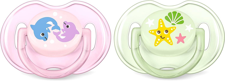 Chupete Inglaterra Philips AVENT SCF169//36 Chupete cl/ásico para beb/és, Silicona, Multicolor, 6 mes 2 pieza s es