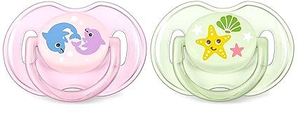 Philips AVENT SCF169/36 - Chupete (Chupete clásico para bebés, Silicona, Multicolor, 6 mes(es), Inglaterra, 2 pieza(s))