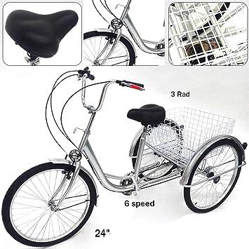 YIYIBY - Bicicleta para Adultos, para Adultos, 6 Marchas, 24 ...