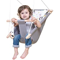 Baby Swing for Infants and Toddler, Canvas Baby Hammock Swing Indoor and Outdoor with Safety Belt and Mounting Hardware…