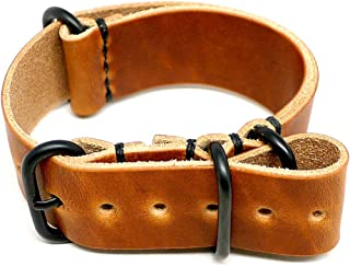 product image for DaLuca Military Watch Strap - Natural Dublin (PVD Buckle) : 24mm