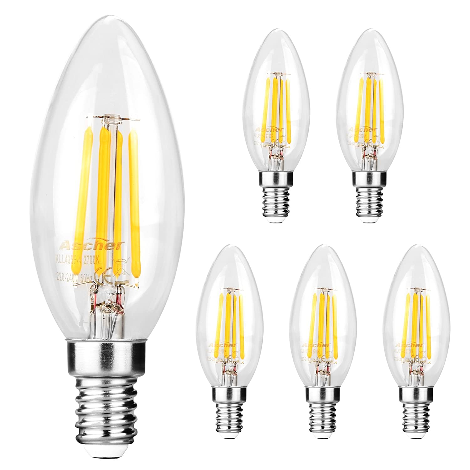 Led lampen amazon ascher 5er pack led lampe e14 retrofit classic led birne als kolbenlampe klar parisarafo Choice Image