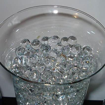 Amazon.com: Transparent Crystal Soil Magic Pearl Shaped Grow ... on milk bottle filler beads, bean bag filler beads, vase fillers for centerpieces, extra large acrylic beads, floating beads, vase fillers for weddings, large faux pearl beads, water gel beads, christmas beads, moisture absorbing beads, vase fillers michaels, plant filler beads, vase stands walmart, bath beads, oversized pearl beads, glass beads, coral water beads, pillow filler beads, candle filler beads, plastic filler beads,