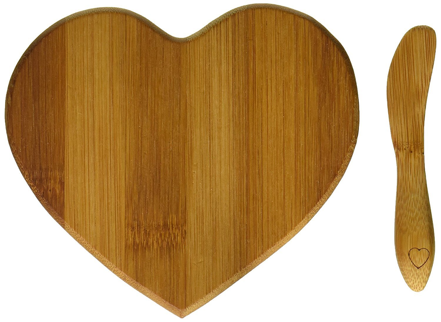 Tastefully Yours' Heart-Shaped Bamboo Cheese Board - Total 48 sets