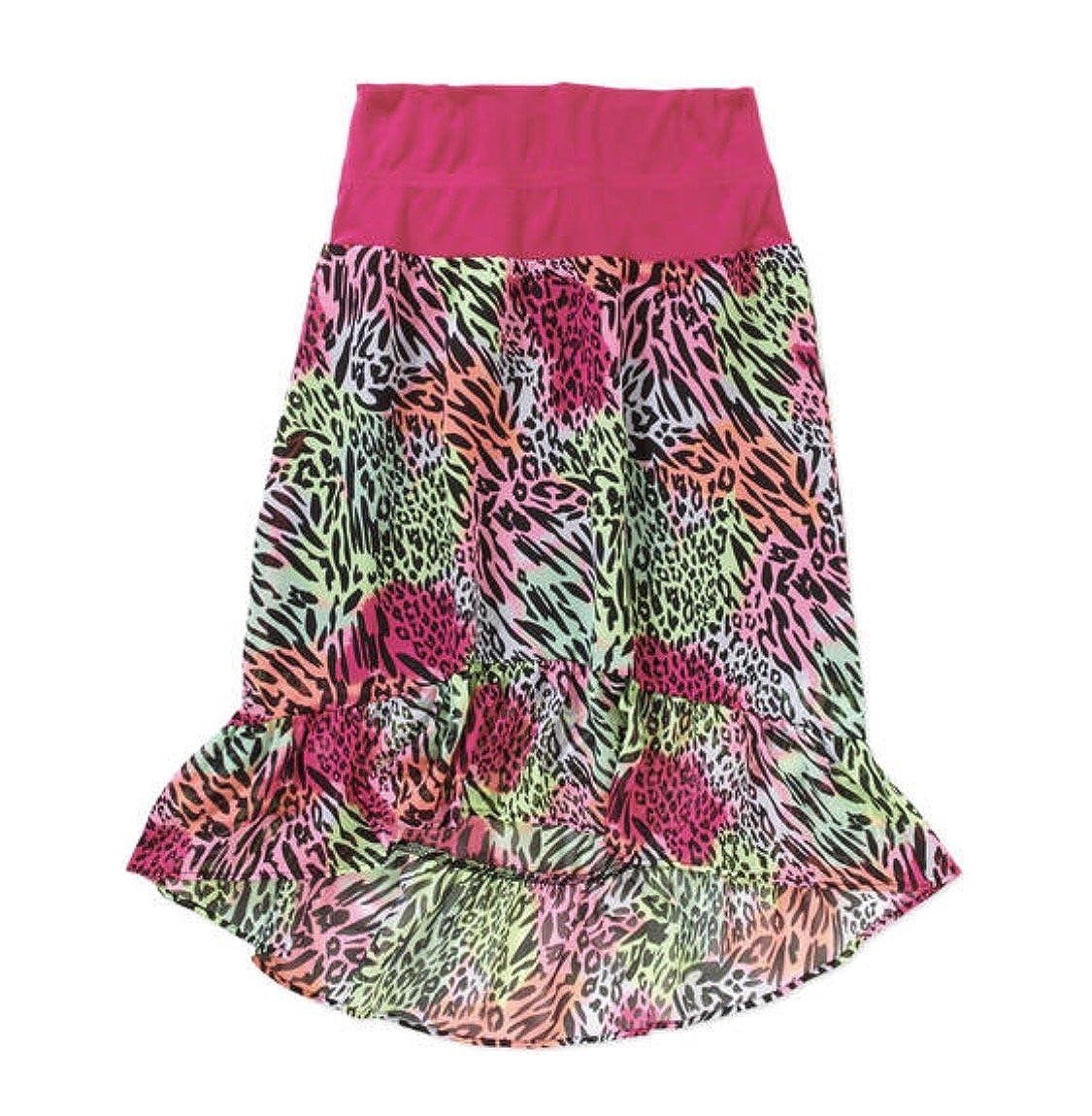 XL Faded Glory Girls Print Chiffon Skirt 14-16