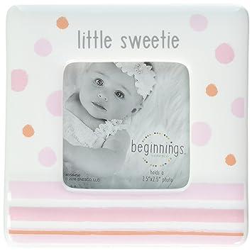Amazon.com : Beginnings by Enesco Little Sweetie Baby Girl Photo ...
