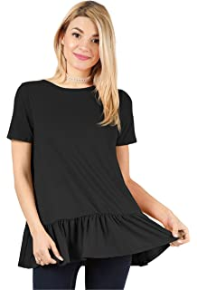 f9dc7b9af7c70e Womens Long   Short Sleeve Flowy Loose Regular and Plus Size Tunic Tops for  Leggings with