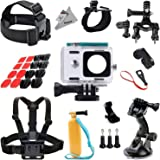 Deyard Y-01 Custodia impermeabile protettiva 27-in-1 kit di accessori per Xiaomi Yi Action Camera, Multicolore