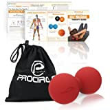 PROCIRCLE Double Massage Ball - Therapy Peanut Ball, Stress Ball & Double Lacrosse Ball - Deep Tissue Massage Tool for Back, Foot, Neck (red)