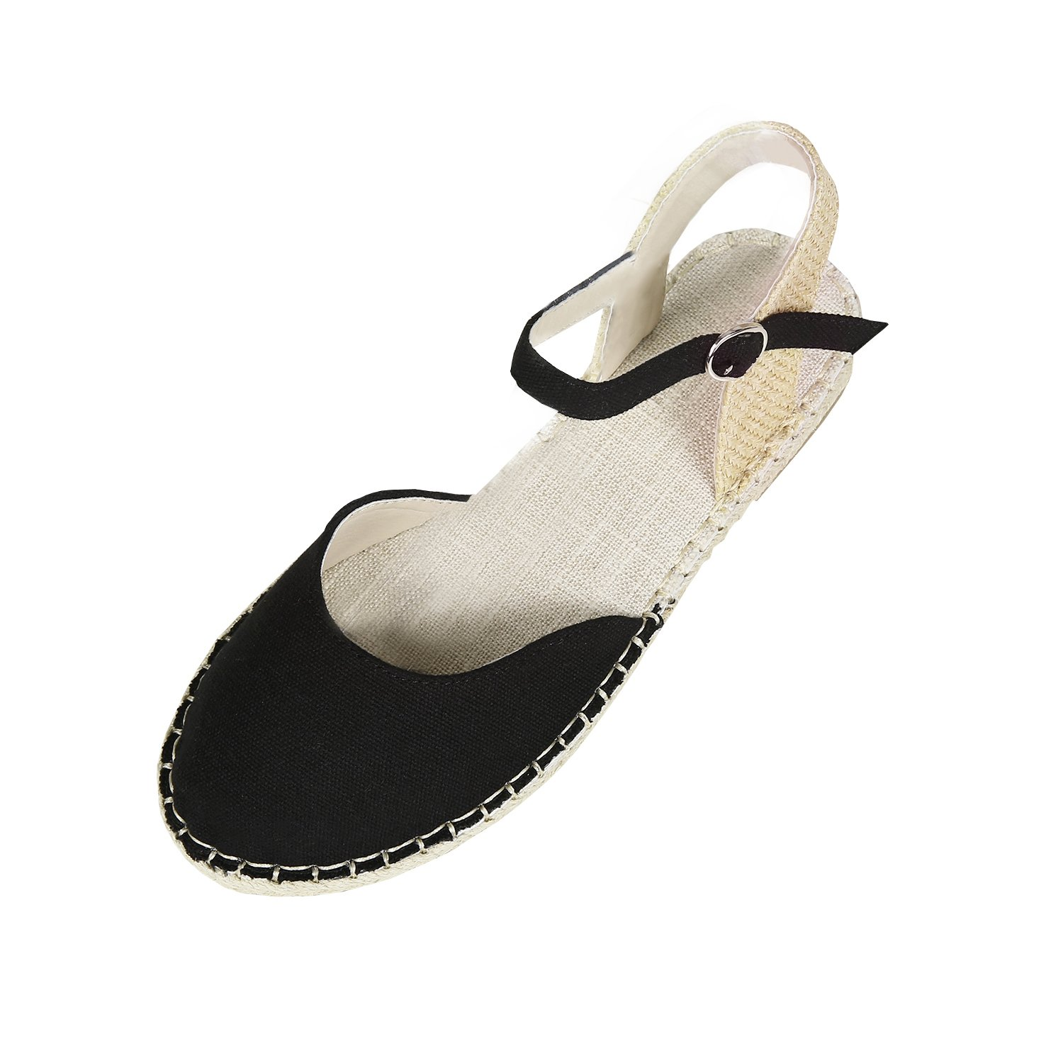be2077ae2a3 Amazon.com  Coutgo Womens Ankle Wrap Espadrilles Flat Sandals Cut Out  Platform Sandals Summer Shoes  Clothing