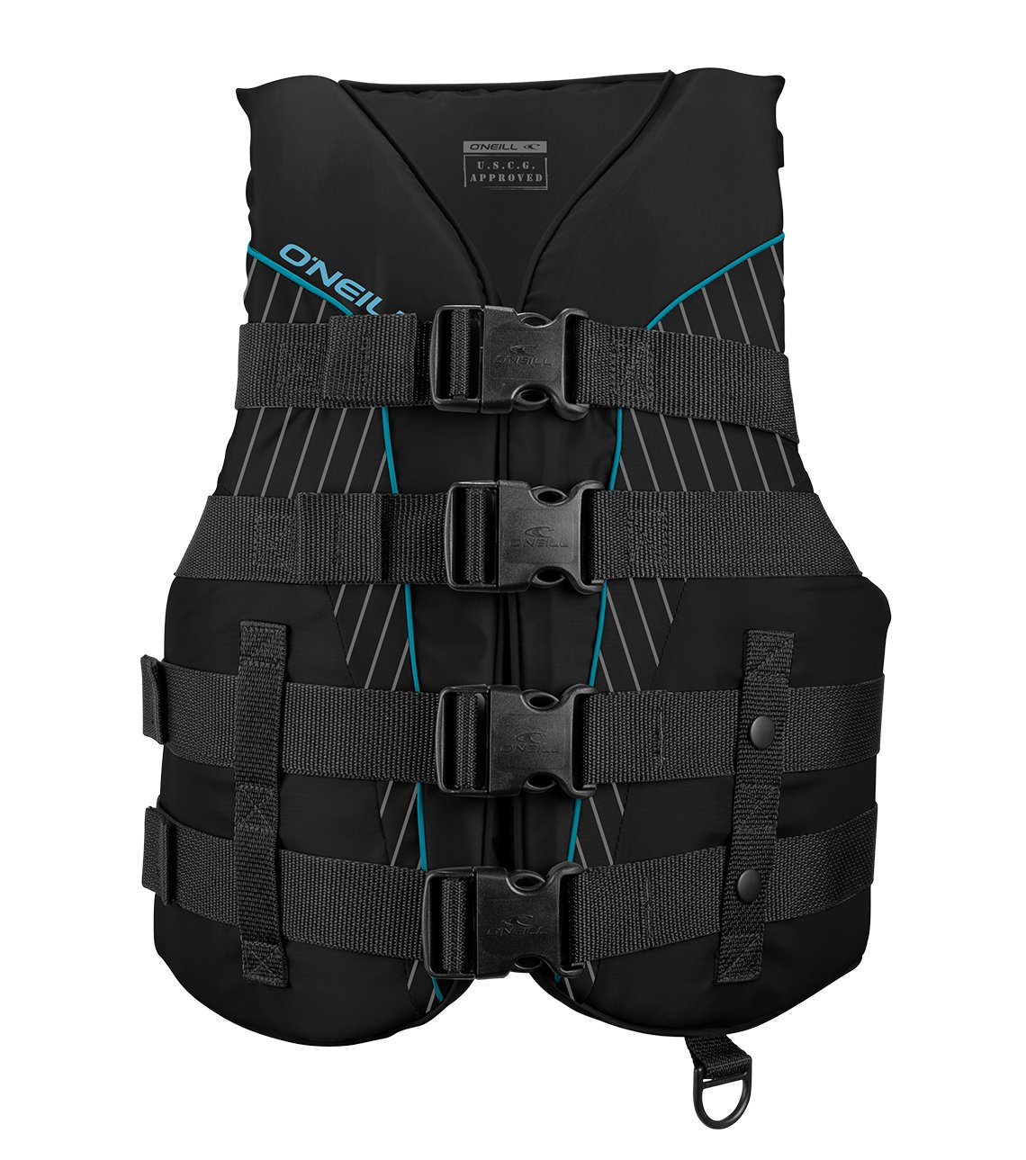 O'Neill Wetsuits  Women's SuperLite USCG Life Vest,Black/Turquoise,Large by O'Neill Wetsuits