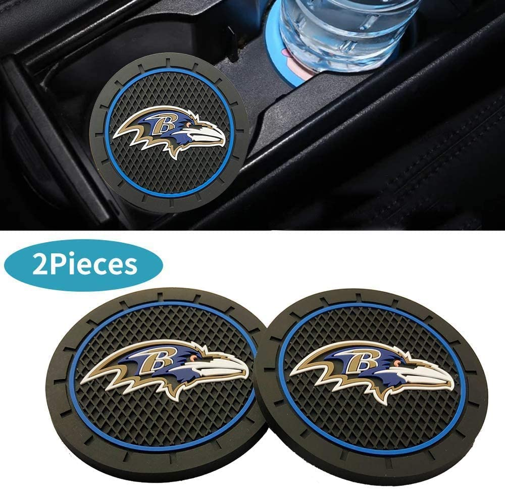 fit Tennessee Titans CAR FANS 2pcs fit Team Logo Cup Holder Lights,USB Charging Switchable Colorful Breathing Room Atmosphere Light,Choice of Big Fan of Football
