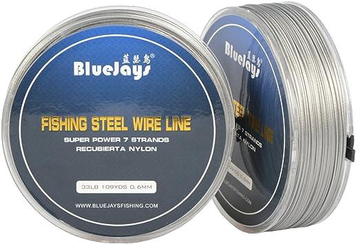 Professional Blinker Ocean Wire 1x7 Stainless Steel Tippet 5 Metre Nylon coated