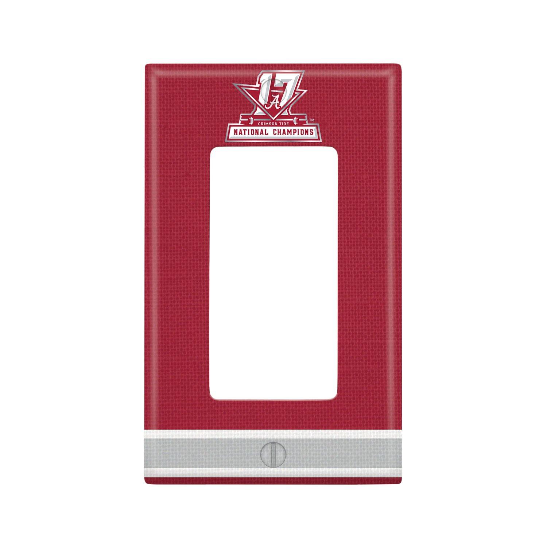 Alabama Crimson Tide 2017 National Champions Single Rocker Light Switch Cover NCAA