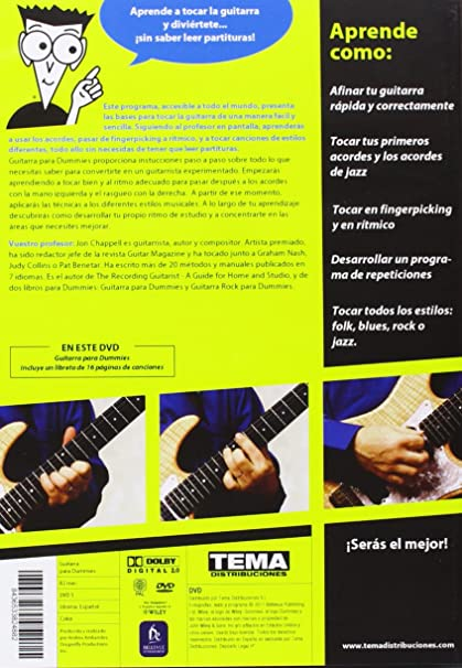 Amazon.com: Guitarra Para Dummies (Import Movie) (European Format - Zone 2) (2013) Jon Chappell; Andrea Ambandos: Movies & TV