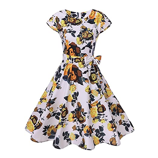 038781544f5f general3 Women s Sleeveless Dress A-Line Dress Vintage Casual Flare Floral  Contrast Evening Party Prom