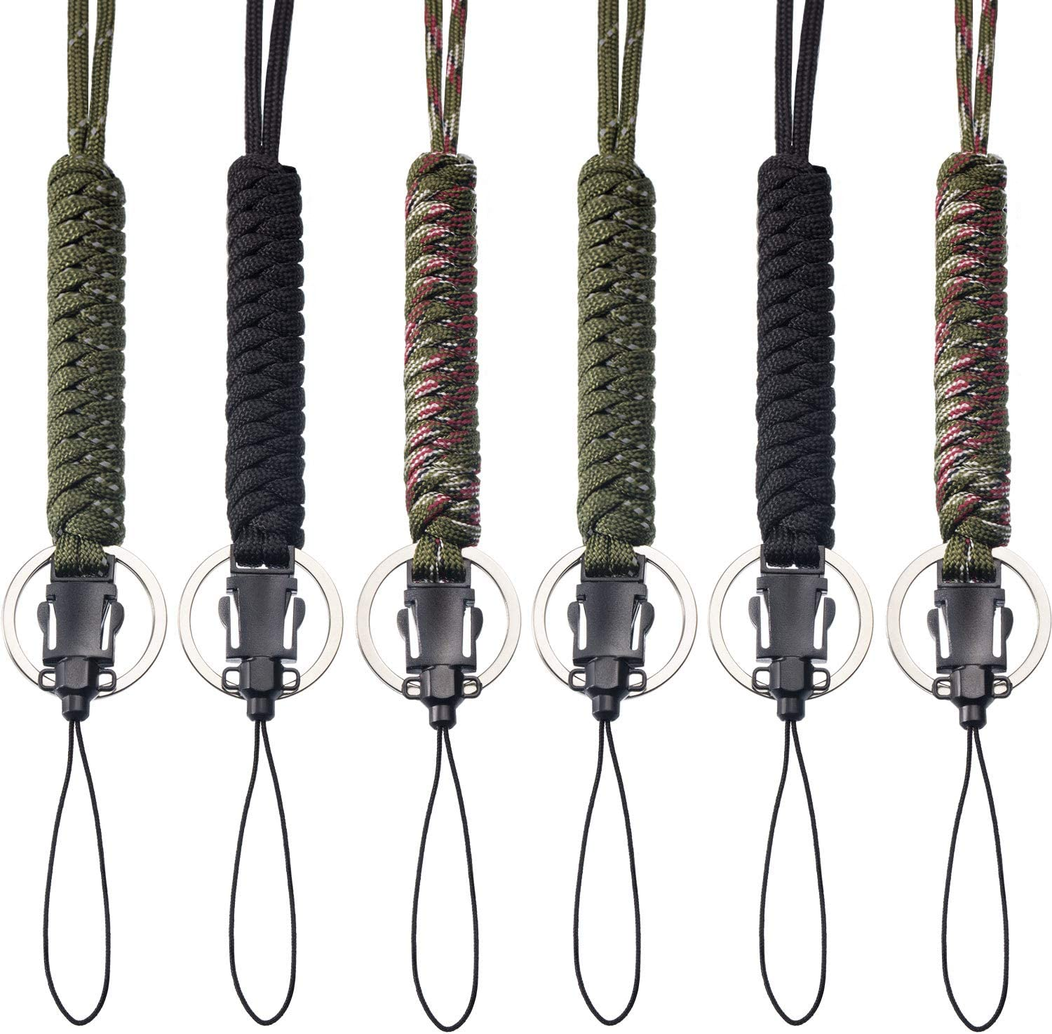 Camping Keyring Emergency Rope Carabiner Key Chain Rings Paracord Cord Keychain
