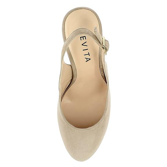 Taille 40 Evita Shoes ILENEA Escarpins Sling Daim Bleu Royal 42  36 EU StrlfSaD