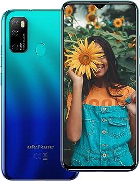 Ulefone Note 9P (2020) - Smartphone Android 10 de 6,52 Pulgadas, 16 MP, Quad Camera, Octa-Core 4 GB + 64 GB, 3 Ranuras para Tarjetas, Dual SIM, batería 4500 mAh OTG, desbloqueo de Huella Azul: Amazon.es: Electrónica