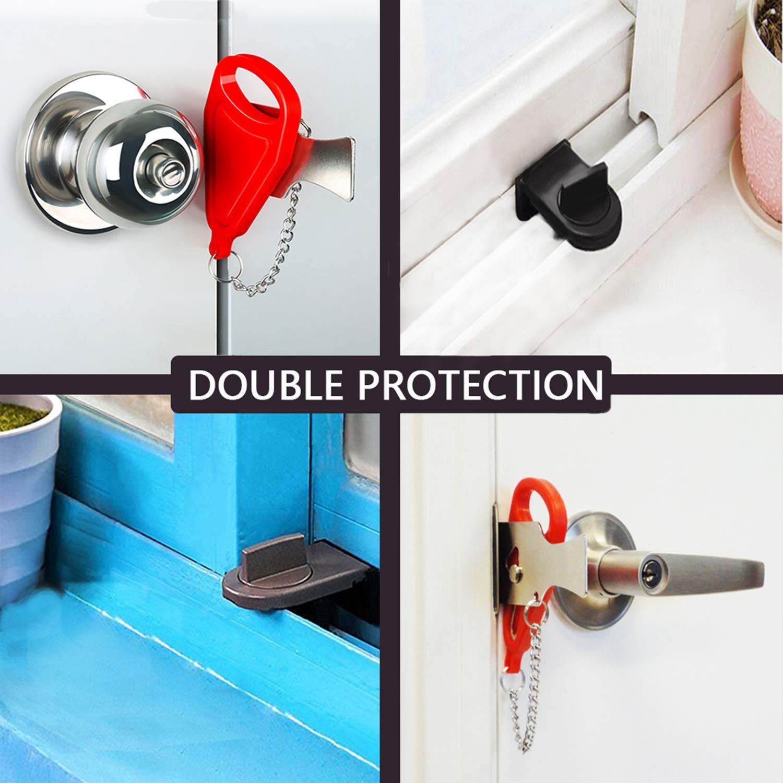Portable Door Lock for Travel School Lockdown Lock 1 Set 1 Set