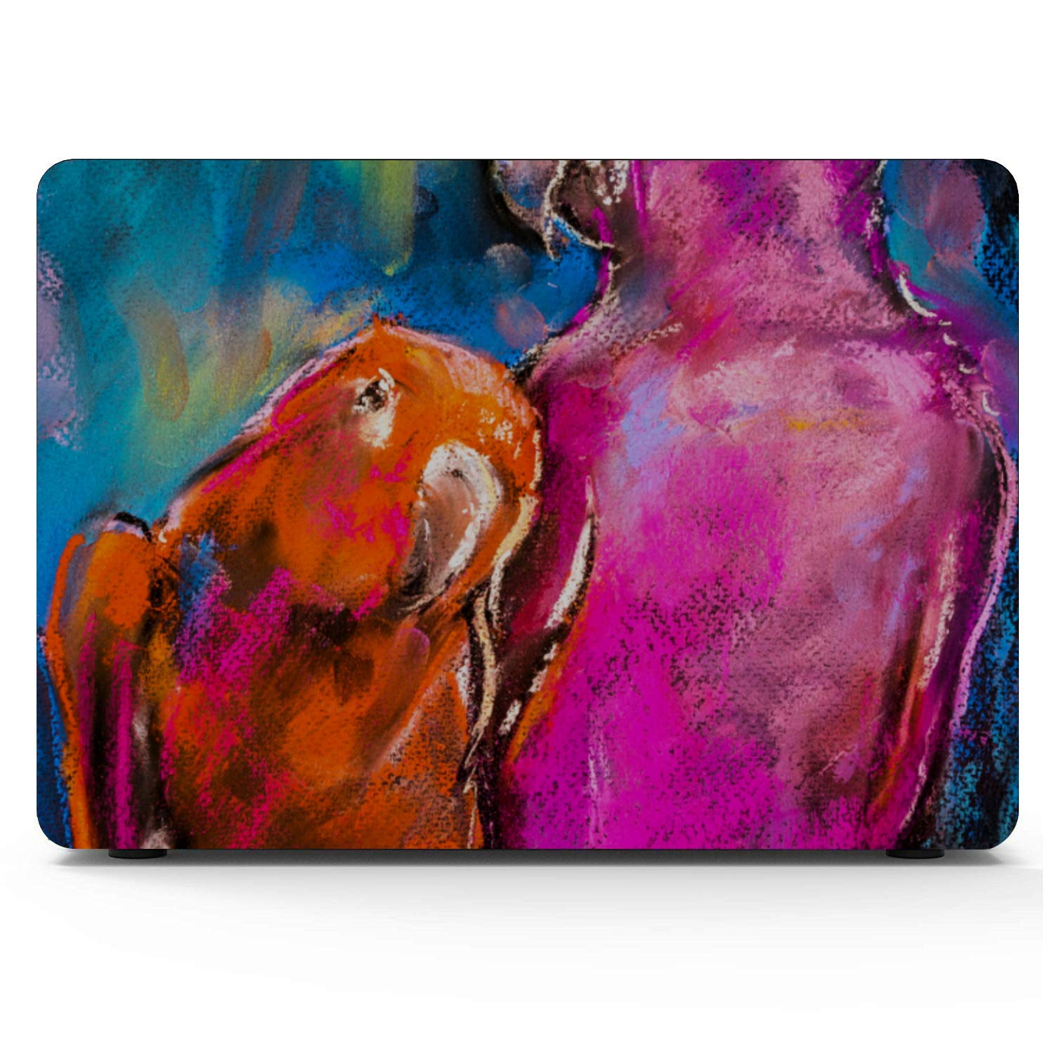 MacBook Case 12 Inch Smart Cute Bird Parrot Oil Painting Plastic Hard Shell Compatible Mac Air 11 Pro 13 15 MacBook Pro Accessories Protection for MacBook 2016-2019 Version