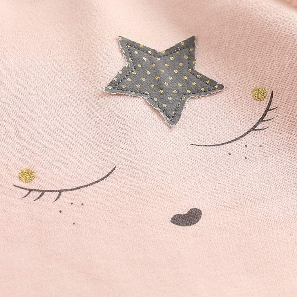 marc janie Little Girls Autumn Fleece Lined Sweatshirts Girls Tops