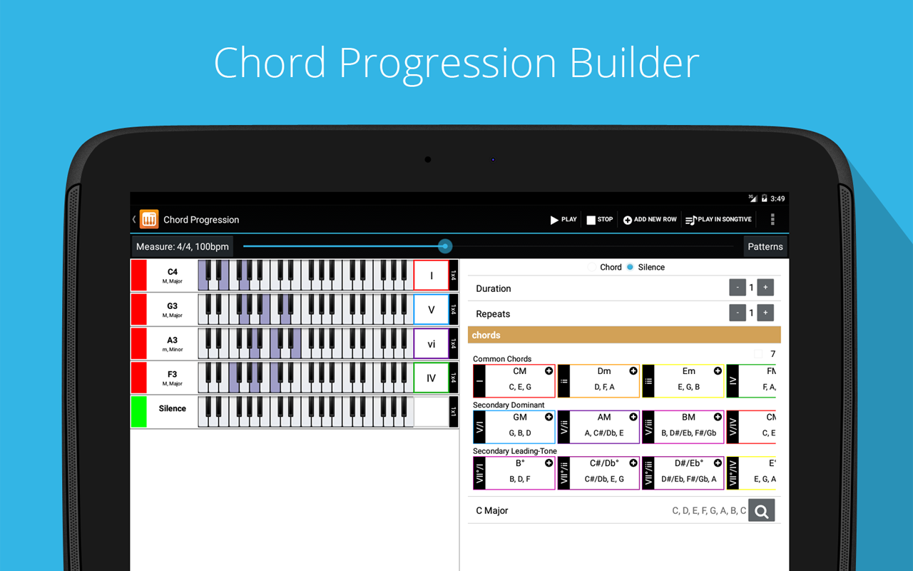Piano Companion PRO: chords, scales, progression builder, circle of fifths