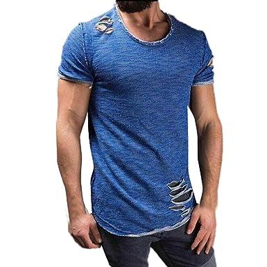 c8682b65ac349 T-Shirt - uni - Col V - Manches Courtes - Covermason Hommes Tee Slim ...