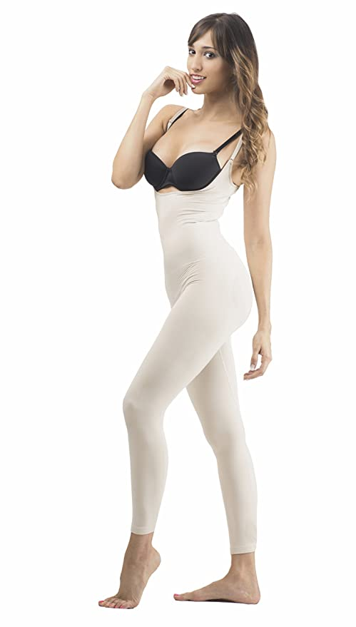 babb21d48a Image Unavailable. Image not available for. Color  Full Shapewear Cincher  Thermal Bodysuit Open Bust Capri ...