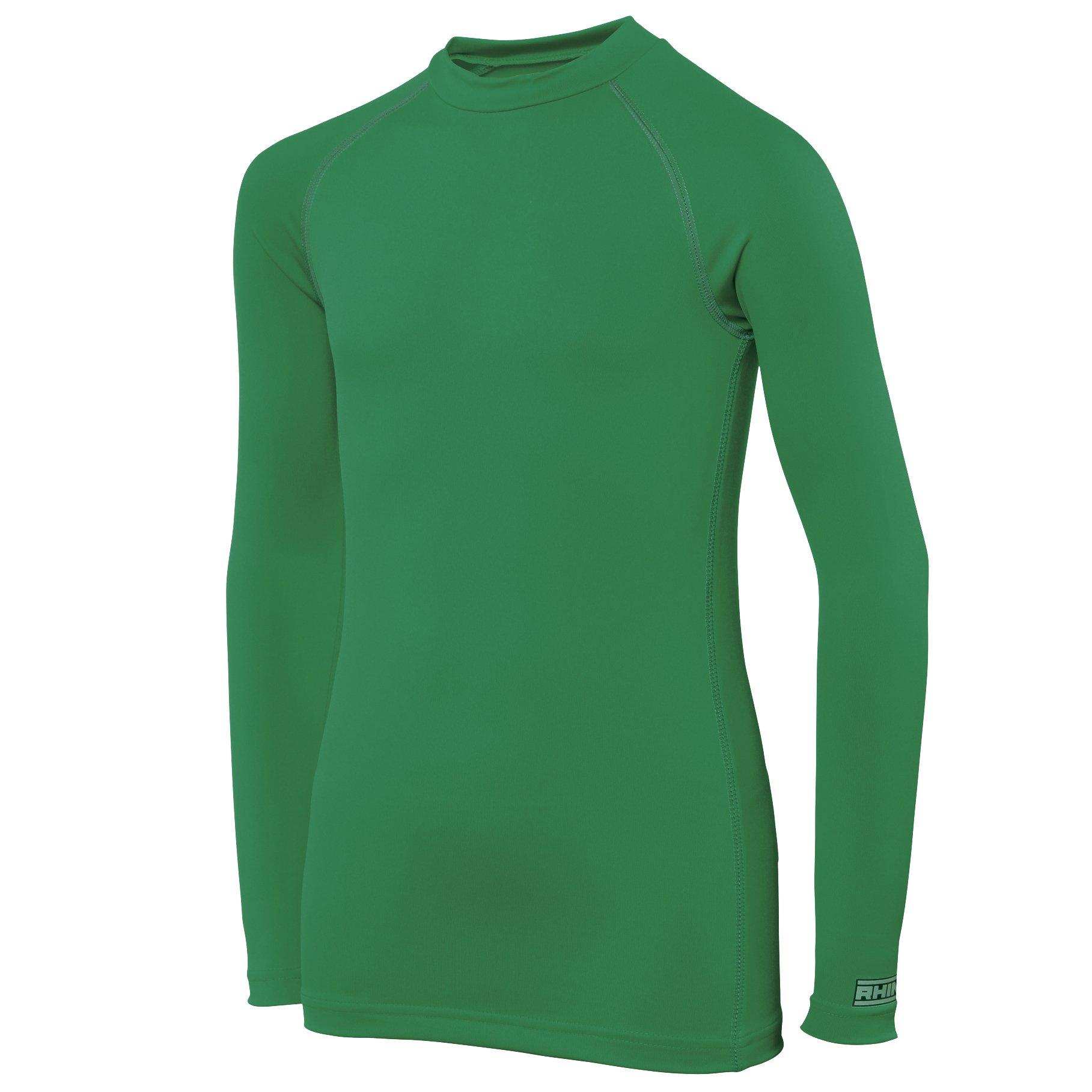 Rhino Childrens Big Boys Long Sleeve Thermal Underwear Base Layer Vest Top (5-6) (Green) by Rhino