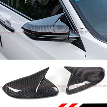 Side Door Mirror Wing Carbon Fiber Trim Cover Molding For Honda Civic 2016 2017 2018 2019