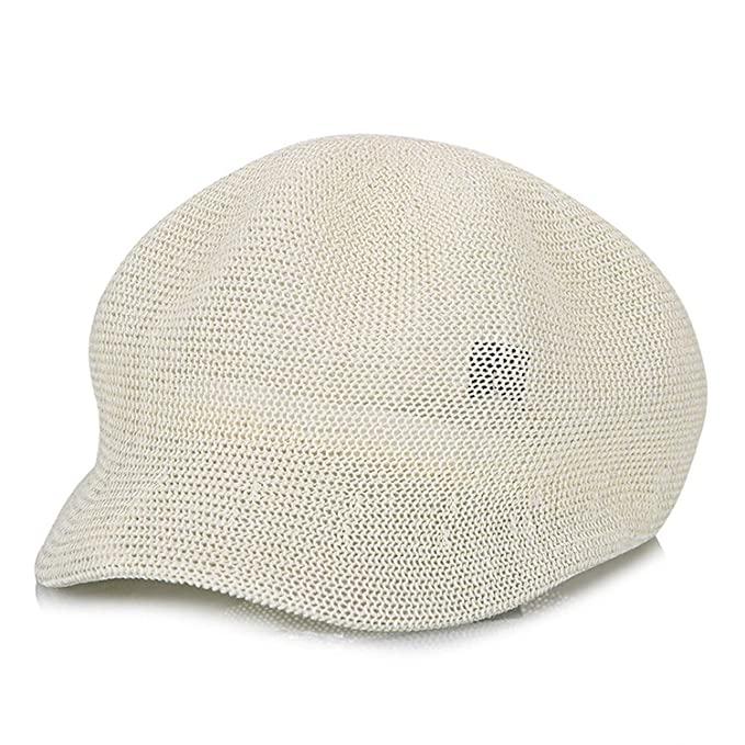 d5e8987d410 Amazon.com  Women s Straw Knit Hat Breathable Sun Cap Summer Hat for Women  Knit Hats Visor Beige  Clothing