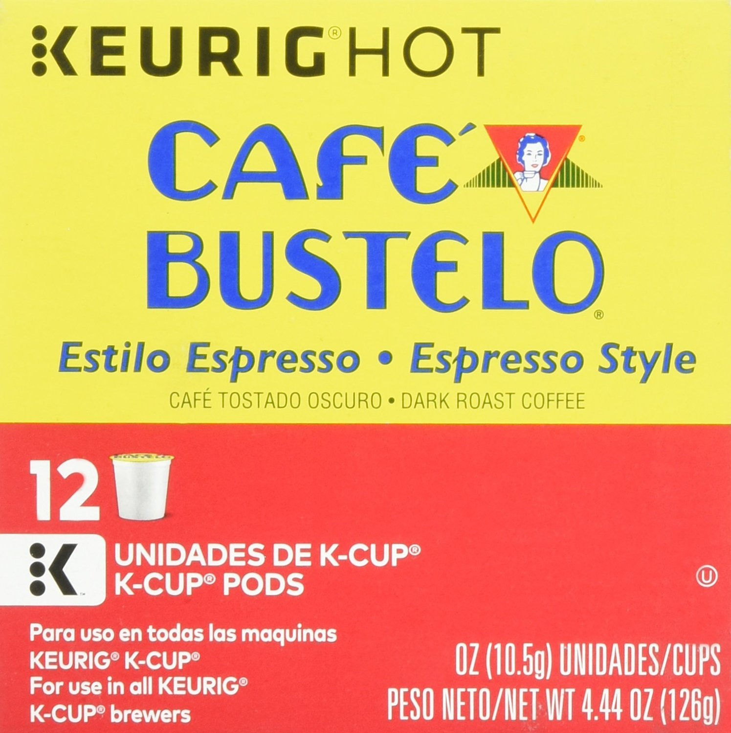 Cafe Bustelo, K-Cup Single Serve, 12 Count, 4.44oz Box (Pack of 3) (Espresso Style): Amazon.com: Grocery & Gourmet Food