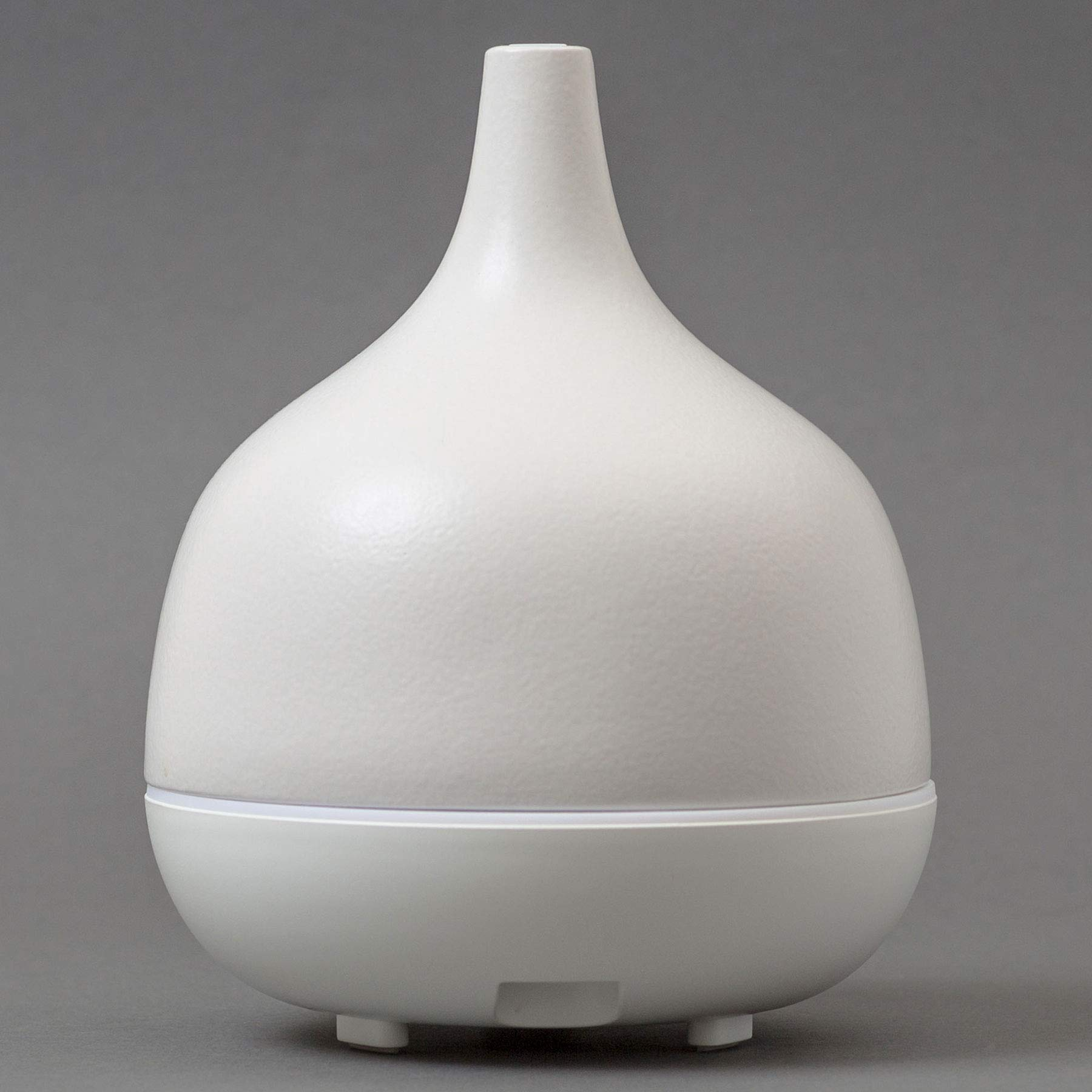 Hand-Crafted Ceramic Stone Ultrasonic Essential Oil Diffuser for Aromatherapy - 300 ml, White