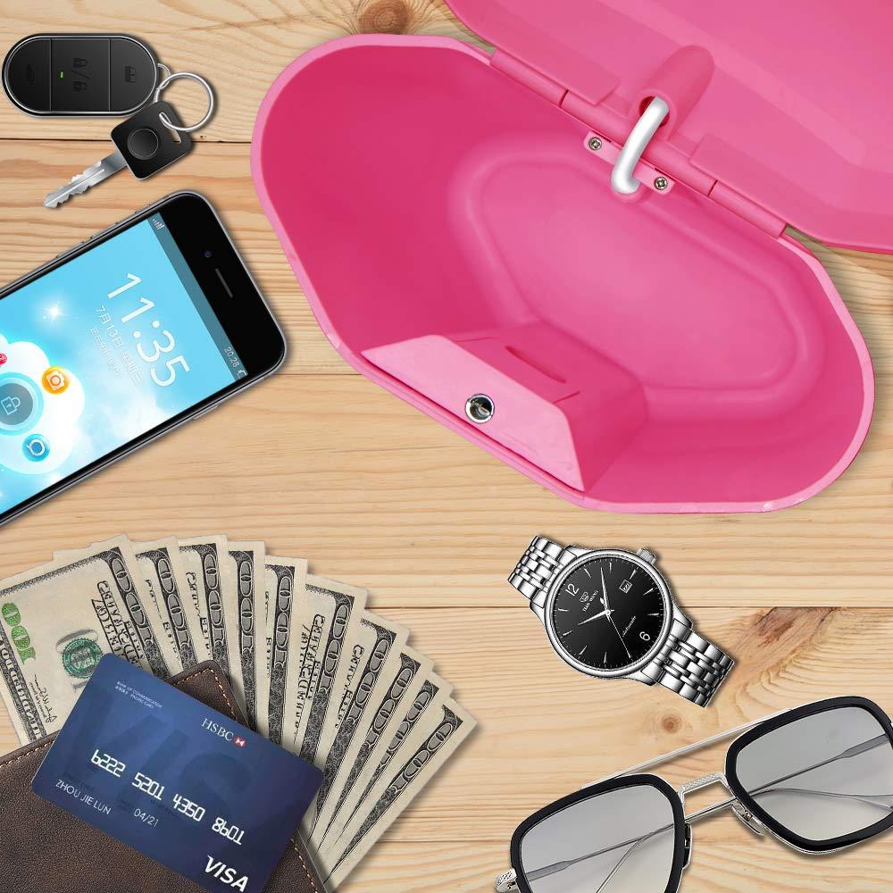 Lucchetto portatile da viaggio cassaforte per interni ed esterni per proteggere i tuoi oggetti di valore bianco