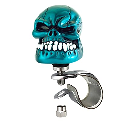 Arenbel Steering Wheel Spinner Knob Skull Suicide Turning Grip Knobs Assist fit Most Cars Truck Boat Tractor, Metallic Blue: Automotive [5Bkhe1514403]