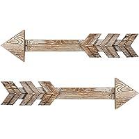 TIMEYARD Arrow Decor Rustic Wood Arrow Sign, Set of 2 Arrows - Decorative Farmhouse Home Wall Hanging Decor