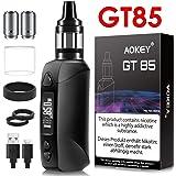 AOKEY GT85電子タバコ パワー調節機能付き スターターキット 爆煙 Vape 禁煙減煙サポート LEDスクリーン 視覚化タンク 2200mAh大容量バッテリー 日本語説明書付き ベイブ