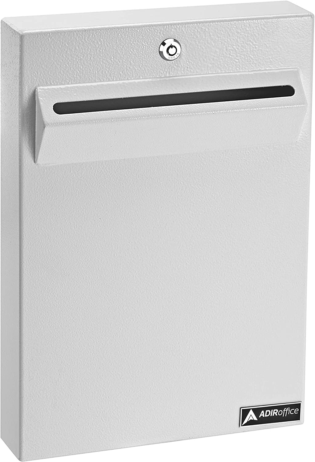AdirOffice Wall Mount Drop Box - Heavy Duty Secured Storage with Lock - for Commercial Home Office or Business Use (White)